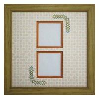 スクエア62W 三角形 古紙風×小紋 Y