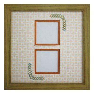 画像1: スクエア62W 三角形 古紙風×小紋 Y