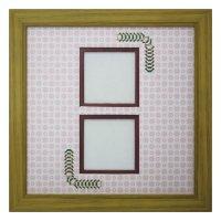 スクエア62W 台形 古紙風×小紋 R