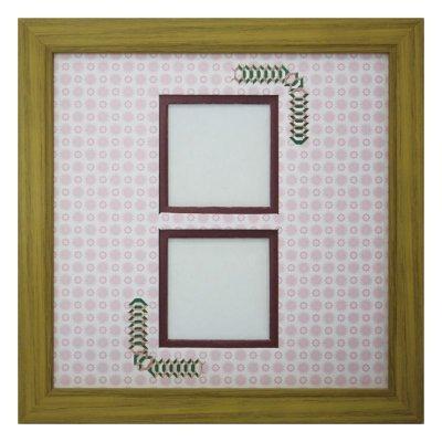 画像1: スクエア62W 台形 古紙風×小紋 R