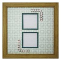 スクエア62W 円形 古紙風×小紋 G