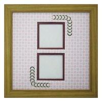 スクエア62W 円形 古紙風×小紋 R