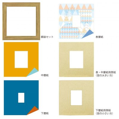 画像4: チェキS 円形 幾何学×ドット B