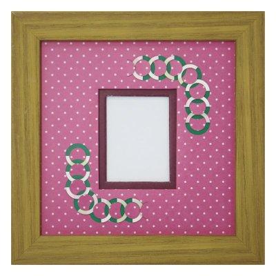 画像1: チェキS 円形 幾何学×ドット R