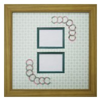 チェキW 円形 古紙風×小紋柄 G