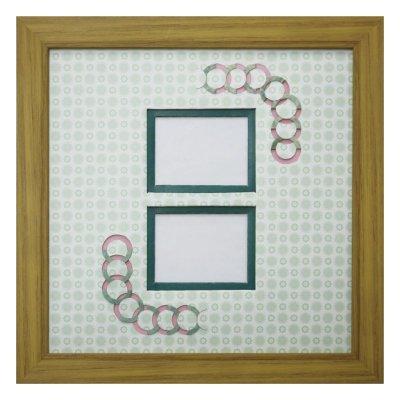 画像1: チェキW 円形 古紙風×小紋柄 G