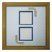 スクエア62W 台形 古紙風×小紋 B