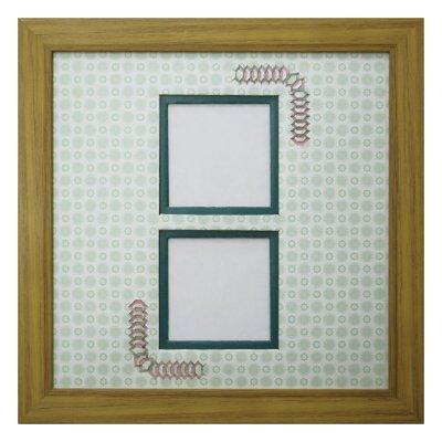 画像1: スクエア62W 台形 古紙風×小紋 G