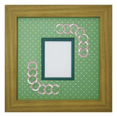 画像1: チェキS 円形 幾何学×ドット G