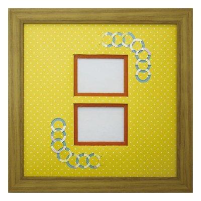 画像1: チェキW 円形 幾何学×ドット Y