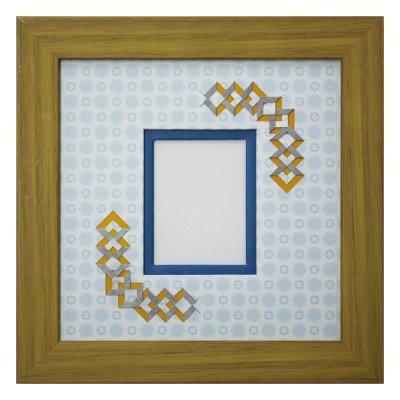 画像1: チェキS 三角形 古紙風×小紋柄 B
