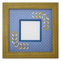 スクエア62 円形 幾何学×ドット柄 B
