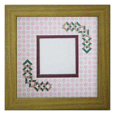 画像1: スクエア62 三角 古紙風×小紋柄 R
