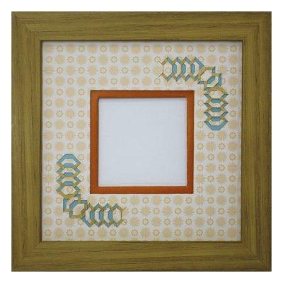 画像1: スクエア62 台形 古紙風×小紋柄 Y