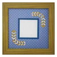 スクエア62 三角 幾何学×ドット柄 B