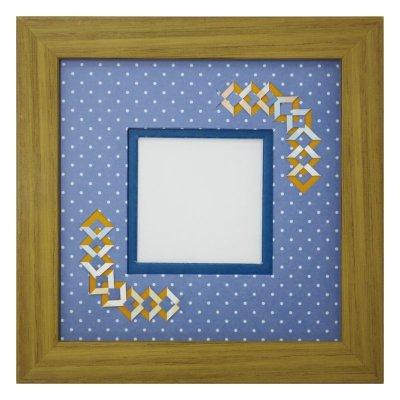 画像1: スクエア62 三角 幾何学×ドット柄 B