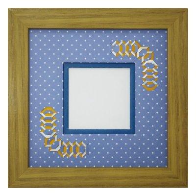 画像1: スクエア62 台形 幾何学×ドット柄 B