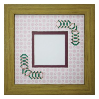 画像1: スクエア62 円形 古紙風×小紋柄 R