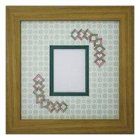 チェキS 三角形 古紙風×小紋柄 G