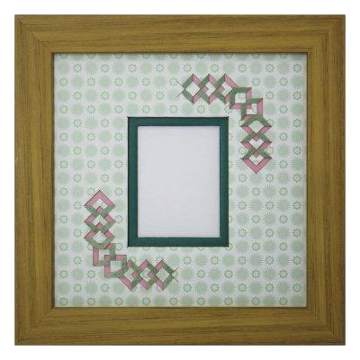 画像1: チェキS 三角形 古紙風×小紋柄 G
