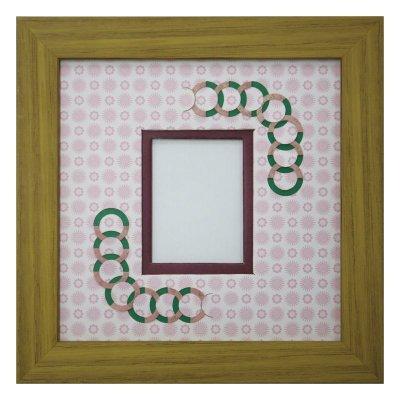画像1: チェキS 円形 古紙風×小紋柄 R