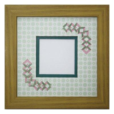 画像1: スクエア62 三角 古紙風×小紋柄 G