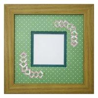 スクエア62 三角 幾何学×ドット柄 G