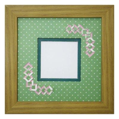 画像1: スクエア62 三角 幾何学×ドット柄 G