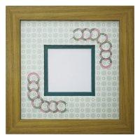 スクエア62 円形 古紙風×小紋柄 G