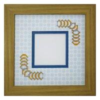 スクエア62 台形 古紙風×小紋柄 B