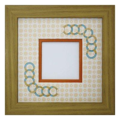 画像1: スクエア62 円形 古紙風×小紋柄 Y
