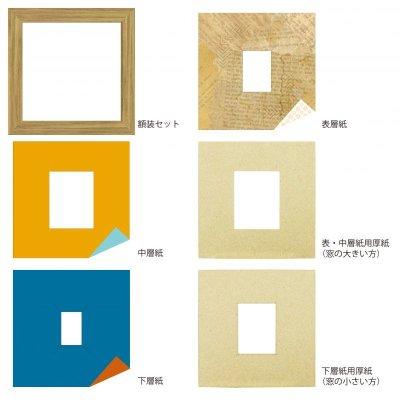 画像4: チェキS 三角形 古紙風×小紋柄 Y