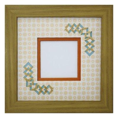 画像1: スクエア62 三角 古紙風×小紋柄 Y