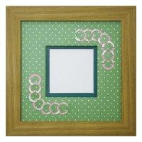 スクエア62 円形 幾何学×ドット柄 G