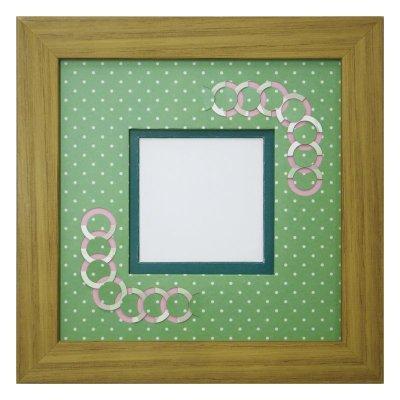 画像1: スクエア62 円形 幾何学×ドット柄 G