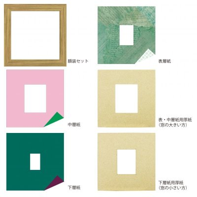 画像4: チェキS 三角形 古紙風×小紋柄 G