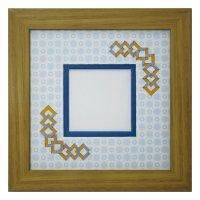 スクエア62 三角 古紙風×小紋柄 B