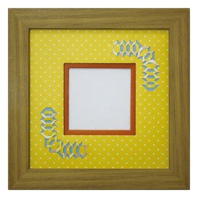 画像1: スクエア62 台形 幾何学×ドット柄 Y