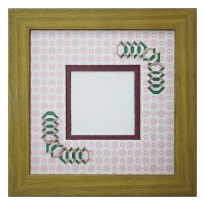 画像1: スクエア62 台形 古紙風×小紋柄 R