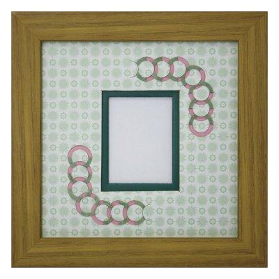 画像1: チェキS 円形 古紙風×小紋柄 G