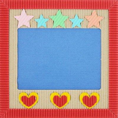 画像2: ぺたぺた 枠からつくるじっくりセット ブルー×レッド